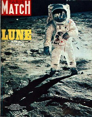 Paris Match n 1058 Spécial Lune cover 16 August 1969