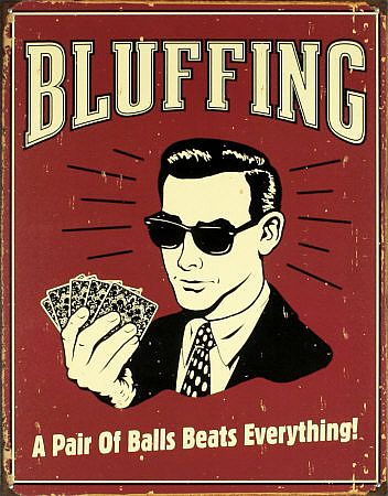 Bluffing poster