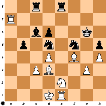 Chess Titans level max.=10 vs. Vitorino Ramos after his 32. Ne2 move