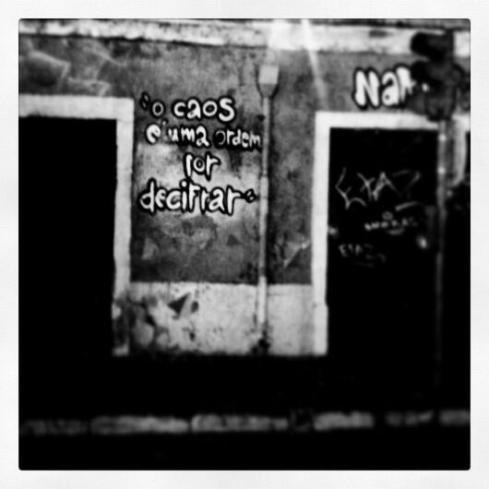 Saramago Caos quote - Lisbon, Vitorino Ramos 2013
